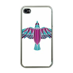 Stained Glass Bird Illustration  Apple iPhone 4 Case (Clear)