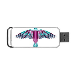 Stained Glass Bird Illustration  Portable USB Flash (Two Sides)
