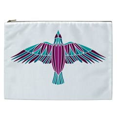 Stained Glass Bird Illustration  Cosmetic Bag (XXL)