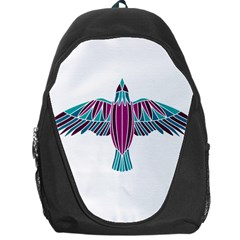 Stained Glass Bird Illustration  Backpack Bag