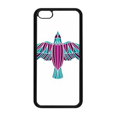 Stained Glass Bird Illustration  Apple iPhone 5C Seamless Case (Black)