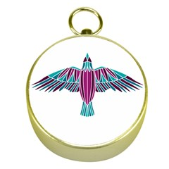 Stained Glass Bird Illustration  Gold Compasses
