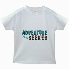 Adventure Seeker Kids White T-Shirts