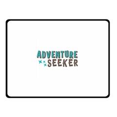 Adventure Seeker Double Sided Fleece Blanket (Small)