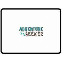 Adventure Seeker Double Sided Fleece Blanket (Large)