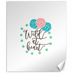 Wild At Heart Flowers Canvas 20  x 24