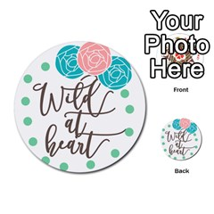Wild At Heart Flowers Multi Purpose Cards (round)