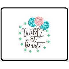 Wild At Heart Flowers Fleece Blanket (Medium)