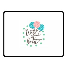 Wild At Heart Flowers Fleece Blanket (Small)