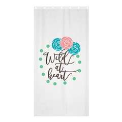 Wild At Heart Flowers Shower Curtain 36  x 72  (Stall)