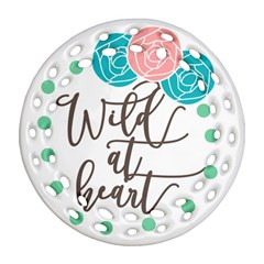 Wild At Heart Flowers Round Filigree Ornament (2Side)