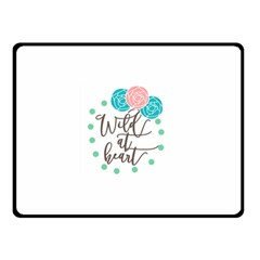 Wild At Heart Flowers Double Sided Fleece Blanket (Small)