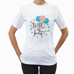 Wild At Heart Flowers Women s T Shirt (white)