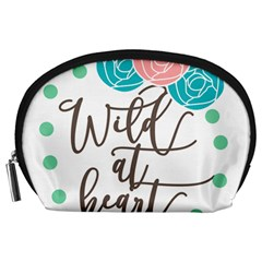 Wild At Heart Flowers Accessory Pouches (Large)