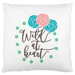 Wild At Heart Flowers Standard Flano Cushion Cases (One Side)