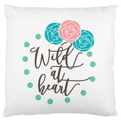 Wild At Heart Flowers Large Flano Cushion Cases (Two Sides)
