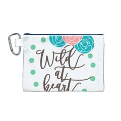 Wild At Heart Flowers Canvas Cosmetic Bag (m)