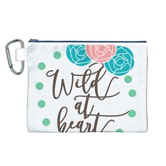 Wild At Heart Flowers Canvas Cosmetic Bag (L)