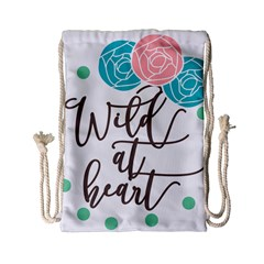 Wild At Heart Flowers Drawstring Bag (small)