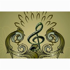 Decorative Clef With Damask In Soft Green Collage 12  X 18