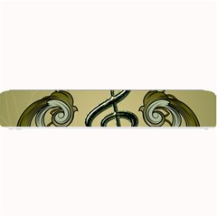 Decorative Clef With Damask In Soft Green Small Bar Mats
