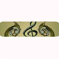 Decorative Clef With Damask In Soft Green Large Bar Mats