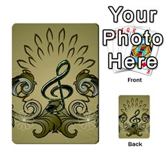 Decorative Clef With Damask In Soft Green Multi-purpose Cards (Rectangle)