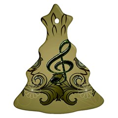 Decorative Clef With Damask In Soft Green Ornament (Christmas Tree)