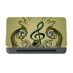 Decorative Clef With Damask In Soft Green Memory Card Reader with CF