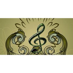 Decorative Clef With Damask In Soft Green YOU ARE INVITED 3D Greeting Card (8x4)