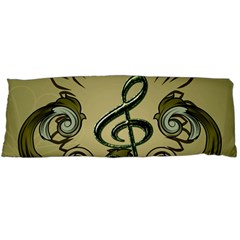 Decorative Clef With Damask In Soft Green Body Pillow Cases (Dakimakura)