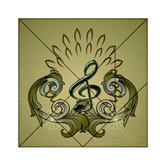 Decorative Clef With Damask In Soft Green Acrylic Tangram Puzzle (6  x 6 )
