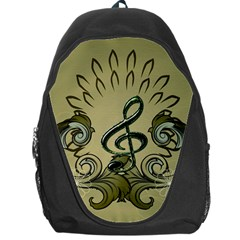 Decorative Clef With Damask In Soft Green Backpack Bag