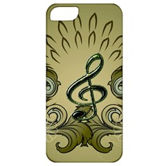 Decorative Clef With Damask In Soft Green Apple iPhone 5 Classic Hardshell Case