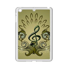 Decorative Clef With Damask In Soft Green iPad Mini 2 Enamel Coated Cases