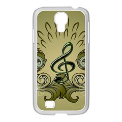 Decorative Clef With Damask In Soft Green Samsung GALAXY S4 I9500/ I9505 Case (White)