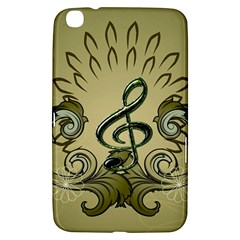Decorative Clef With Damask In Soft Green Samsung Galaxy Tab 3 (8 ) T3100 Hardshell Case
