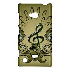 Decorative Clef With Damask In Soft Green Nokia Lumia 720