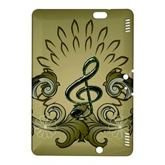 Decorative Clef With Damask In Soft Green Kindle Fire HDX 8.9  Hardshell Case