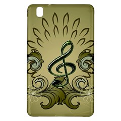 Decorative Clef With Damask In Soft Green Samsung Galaxy Tab Pro 8.4 Hardshell Case