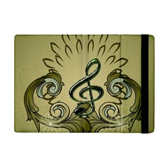 Decorative Clef With Damask In Soft Green iPad Mini 2 Flip Cases