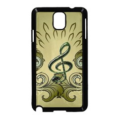 Decorative Clef With Damask In Soft Green Samsung Galaxy Note 3 Neo Hardshell Case (Black)