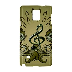 Decorative Clef With Damask In Soft Green Samsung Galaxy Note 4 Hardshell Case