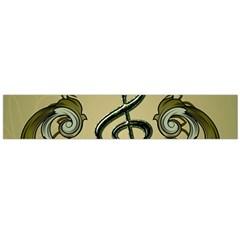 Decorative Clef With Damask In Soft Green Flano Scarf (Large)