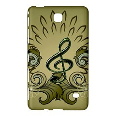 Decorative Clef With Damask In Soft Green Samsung Galaxy Tab 4 (8 ) Hardshell Case