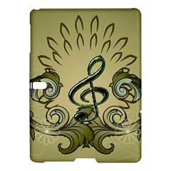 Decorative Clef With Damask In Soft Green Samsung Galaxy Tab S (10 5 ) Hardshell Case