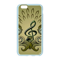 Decorative Clef With Damask In Soft Green Apple Seamless iPhone 6/6S Case (Color)