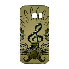 Decorative Clef With Damask In Soft Green Galaxy S6 Edge