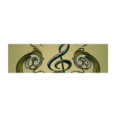 Decorative Clef With Damask In Soft Green Satin Scarf (oblong)