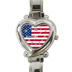 Usa1 Heart Italian Charm Watch